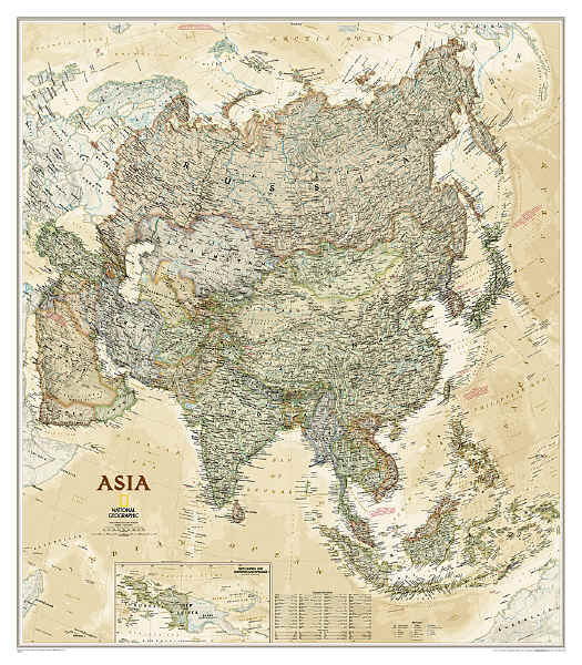 The Savvy Traveller National Geographic Wall Maps