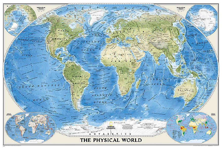 The Savvy Traveller National Geographic Wall Maps The World - Map of the world in detail