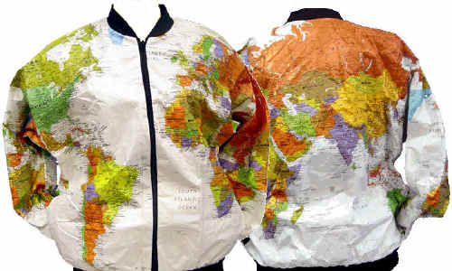 The Savvy Traveller - Interarts Wearin' the World Map Jackets and Caps