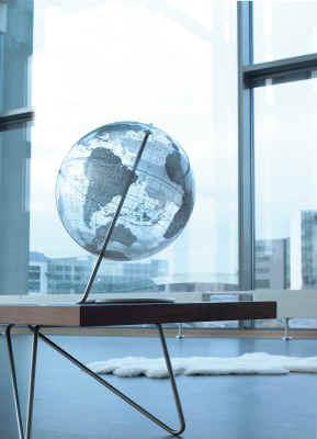 crystal marquise silver world globe