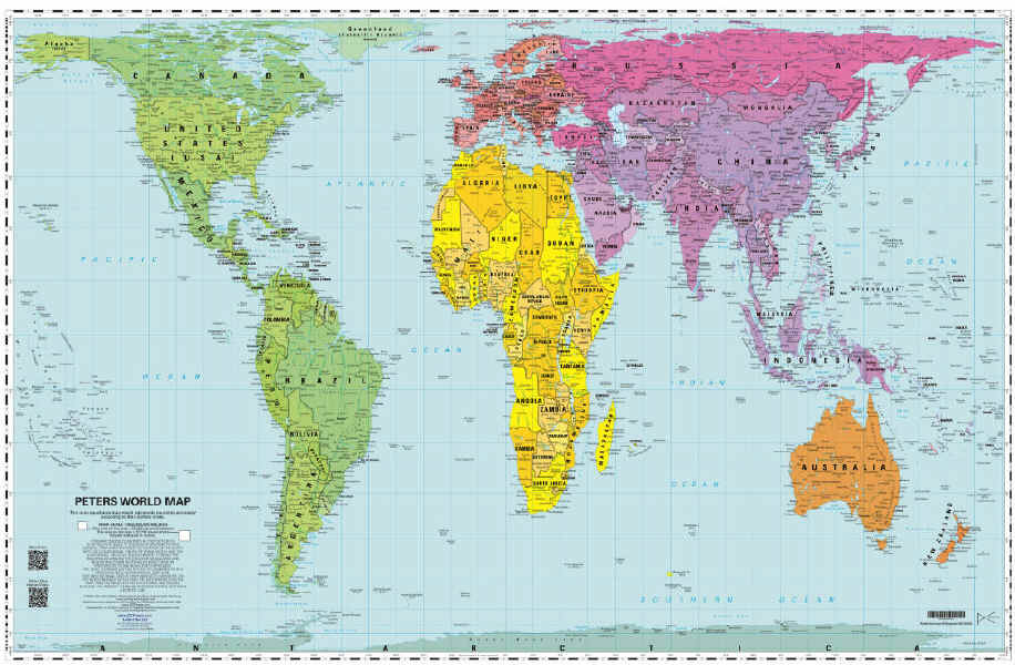 The savvy traveller peters projection world map peters projection world map gumiabroncs Images